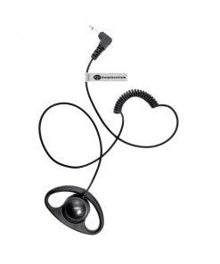 d-shape listen only earpiece