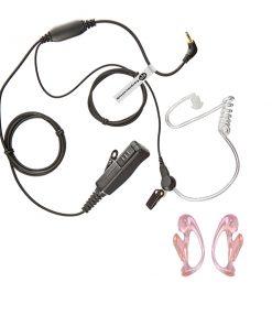 HD Motorola 1 Pin Radio Earpiece With Ear Moulds