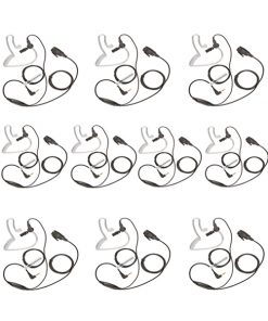 Pack of 10 Covert Motorola TLKR 1 Pin Radio Earpiece