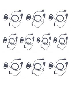 Pack of 10-D shape Baofeng 2 Pin Radio Earpiece